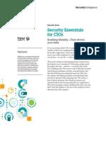 Enabling Security Essentials for CIOs