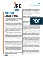 What Went Wrong Case Study