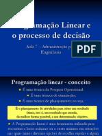 Programação Linear e o processo de decisão.ppt