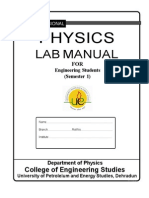 Lab Manual Upes Physics
