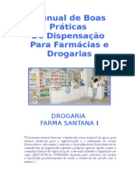 MANUAL DE BOAS PRATICAS DE DISPENSACAO PARA DROGARIA.doc