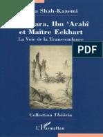 Shankara, Ibn 'Arabi Et Maitre Eckhart - Reza Shah-Kazemi