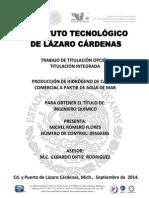 PRODUCCIÓN DE HIDROGENO DE CALIDAD COMERCIAL A PARTIR DE AGUA DE MAR.pdf