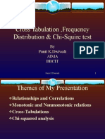 Cross Tabulation n Frequency Distribution
