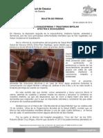 09 de octubre de 2014 DEPRESIÓN, ESQUIZOFRENIA Y TRASTORNO BIPOLAR AFECTAN A OAXAQUEÑOS.doc