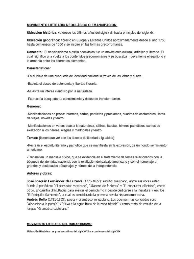 MOVIMIENTO LIETRARIO NEOCLÁSICO O EMANCIPACIÓN.docx