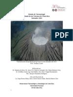 Boletín Mensual Estado de los Volcanes. Setiembre 2014
