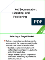 Market Segmentation, Targeting, And Positioning