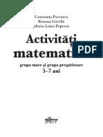 Activitati matematice grupa mare si grupa pregatitoare 5-7 ani cu autocolante.pdf