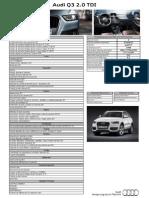 Ficha Técnica Q3 2.0 TDI