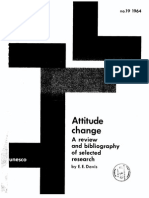 Attitude Change - Earl . E. Davis (UNESCO - 1964)