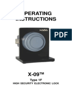 X-09 Type 1F (High Security Electronic Lock) Operating Ins