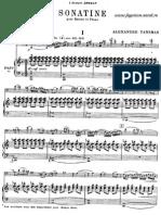 Tansman Sonatina Piano