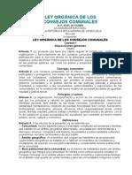 LEY ORGÁNICA DE LOS CONSEJOS COMUNALES.doc