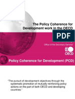 The Policy Coherence for Development work in the OECD