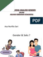 Pendekatan Analisis Gender