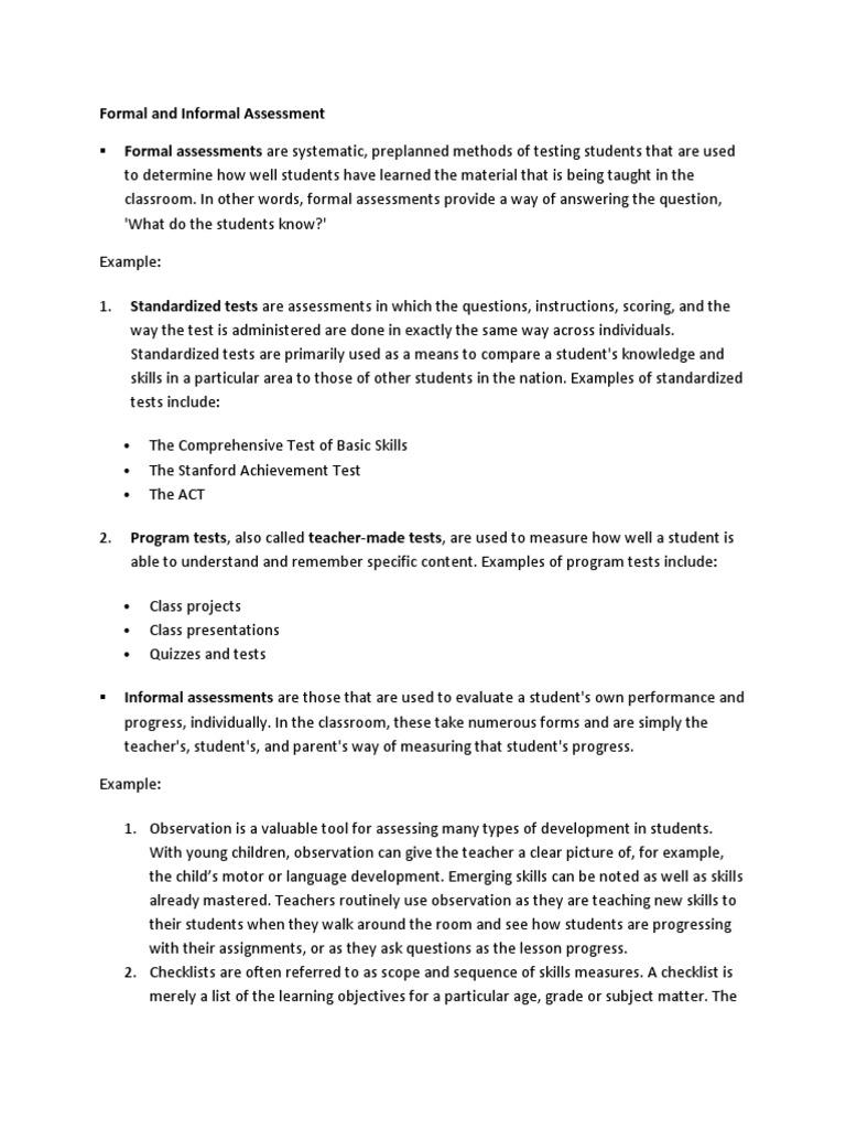 Assessment Educational Assessment Test Assessment