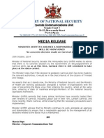 Media Release - No Concrete Decision Made on Carnival 2015 (1)