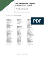 volume 4 intermediate vocabulary