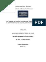 LOS CRÍMENES DEL DERECHO INTERNACIONAL PENAL TIPIFICADOS EN EL ESTATUTO DE ROMA Y EN LA LEGISLACIÓN NACIONAL DEL ECUADOR..docx
