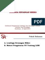 Materi Lembaga Keuangan Mikro