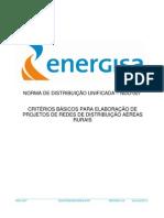 NDU-007 - CRITÉRIOS BÁSICOS PARA ELABORAÇÃO DE PROJETOS DE REDES DE DISTRIBUIÇÃO AÉREAS RURAIS - ENERGISA.pdf