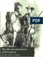 The Life and Adventures of Kit Carson 1858