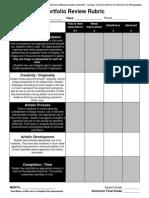 rubric for portfolio reviews