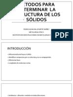 Métodos para determinar la estructura de los materiales.pptx