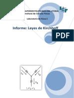 Informe Leyes de Kirchhoff