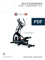 User Manual Schwinn 430 Elliptical Trainer