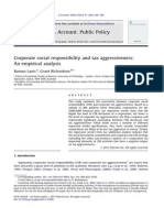 Corporate Social Responsibility and Tax Aggressiveness an Empirical Analysis - Lanis and Richardson