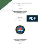 Pengaruh Rotasi Audit Terhadap Independensi Auditor Di Malang