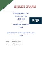 MINIT MESYUARAT Post Mortem Upsr 2013