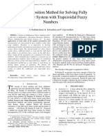 LU Decomposition Method for Solving Fully Fuzzy Linear System with Trapezoidal Fuzzy Numbers