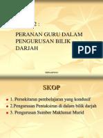 Topik 2 Pengurusan Tingkah Laku Dalam Bilik Darjah