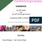 Presentasi Buku Panduan April Spring Friendship Art Festival dan Kimilsungia Festival 2014