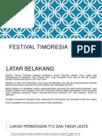 Presentasi Festival Timoresia 2014