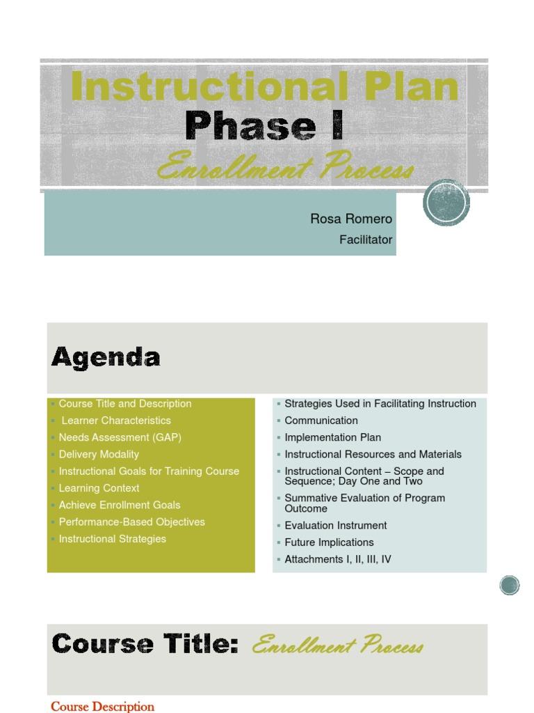 Week 8 Instructional Plan Phase Together Facilitator Educational