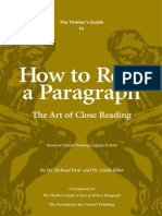 ✔1x How to Read A Paragraph