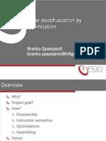 Deobfuscation - optimice