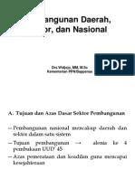 Pembangunan Daerah Sektor Nasional