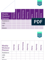 Weekly Exercise Timetable