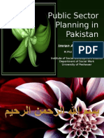 Public Sector Planning in Pakistan 18-12-09-Imran Ahmad Sajid