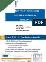 Oracle BI 11.1.1.7 New