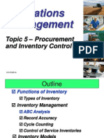 Topic 5a - Procurement and Inventory Control (1)