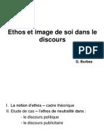 Ethos Et Image de Soi Dans Le Discours,,,