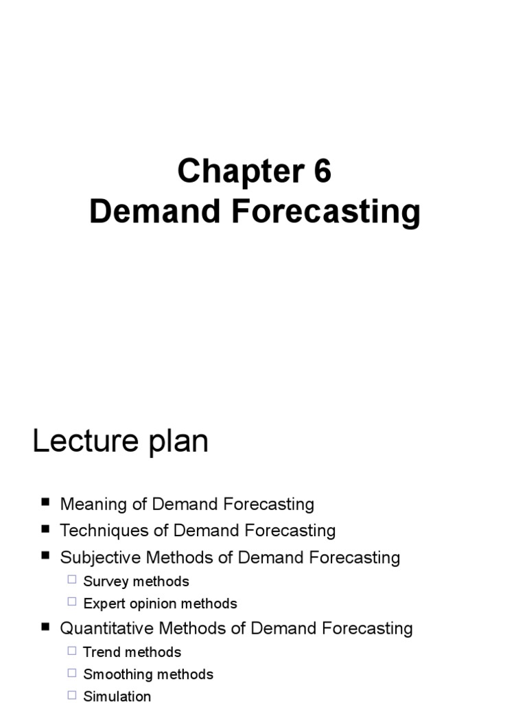 Chapter 6 Demand Forecasting | Forecasting | Linear Trend