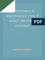 ultrasonics in Endodontics.