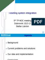 NORDUnet Ticketing system integration